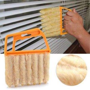 Útil microfibra Janela ar escova de limpeza aspirador Condicionador Pano de pó com um pano de limpeza lâmina de persiana veneziana lavável