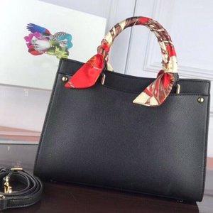 bourse de portefeuille en cuir véritable Litchi femmes Sac dame grand sac à main élégant de bas messager de voyage fourre-tout femelle sacs à bandoulière pr avec de la soie