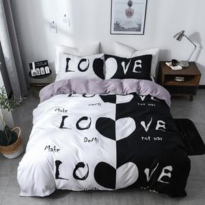 Casal cama Set poliéster Duvet Cover Set com fechamento com zíper 1 capa do edredon + 1/2 Fronhas US / EU / AU Tamanho Lençois