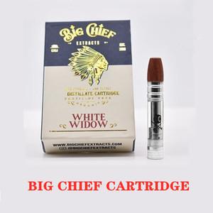Big Chief VAPE CARTUCCIA 0,8 ml di legno Distillato Carrelli ceramica Coil Spesso Olio Atomizer per 510 Discussione Batteria Serbatoio con Packaging DHL