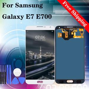 temperli filmi hediyeler ile SAMSUNG GALAXY E7 E700 LCD Ekran Dokunmatik Ekran Sayısallaştırıcı Meclisi Yedek İçin Orjinal