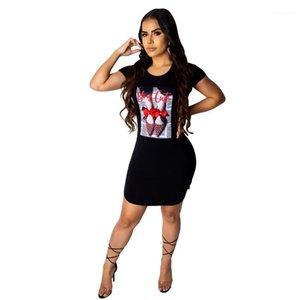 Black Cute Dress Casual High Heel Bow Knot Rhinestone Designer Bodycon Dresses Women Summer