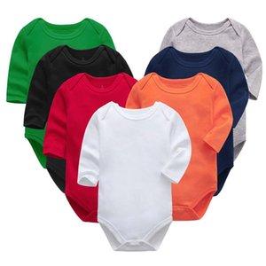 Новорожденные Комбинезон Rompers Сплошной цвет младенцев мягкого хлопка Romper Baby Boy Девушки Комбинезоны с коротким рукавом Комбинезон Комбинезон Летняя одежда E8601