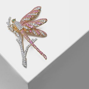 wholesale Flash dragonfly designs stylish insect brooches