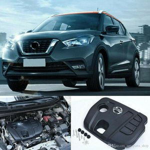 Black Auto Engine Cover Bonnet Hood ABS Fit For Nissan Kicks 2017 2018 2019