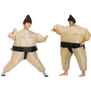 풍선 스모 의상은 성인 어린이 뚱뚱한 남자 스모 파티 코스프레 천 레슬링 할로윈 의상 정장