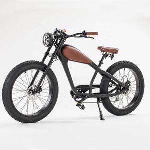 강력한 전기 판매 오토바이 오토바이 자전거 빈티지 전기 뚱뚱한 E 모터 자전거 비치 크루저 Ebike 1000W 자전거