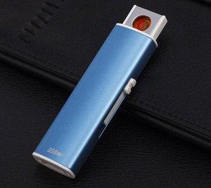 Çakmak USB yaratıcı kişiliği elektronik çakmak ücretsiz sh slBH # yay darbeli ince çift yay rüzgar geçirmeyen çakmak şarj SharpStone