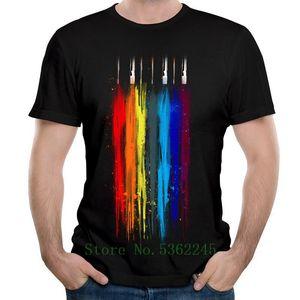 Yoylap En Yeni Pamuk Yaz / Baskılı T Shirt Kısa Kollu O-Boyun Erkek Gömlek Geek Tee-shirt Soyut Sanat Çizgili Tişört Tops Güz
