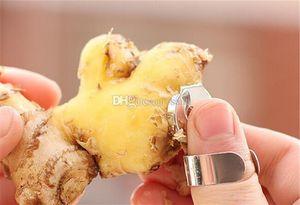Yemek Ev Bahçe Paslanmaz Çelik Sarımsak Presse Hijyen Kestane Peeler Dilimleme Yardımcısı Parmak El Koruyucu Mutfak Peeling Araçları