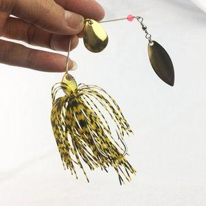 10шт Спиннербейт рыболовную приманку жесткий Buzz флэш Приманки Spinner ложка Ser Bass Pike Быстрый поиск длинный заброса приманки Y200827