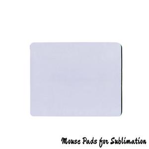 DIY 승화 빈 마우스 패드 사각형 화이트 Mouspads 열 열전달 나만의 DIY 천 고무 마우스 매트 사용자 정의 로고
