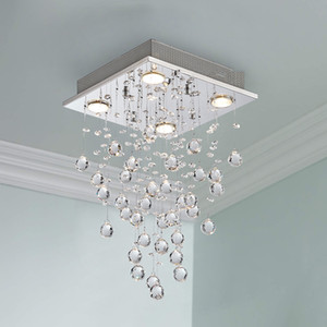Simple led crystal chandelier bedroom showroom decoration crystal ceiling lamps living room LED ceiling lamp export pendant lamps