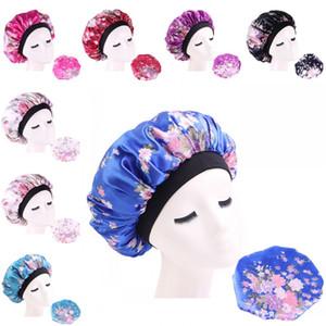 Fleur Elasticité Aménagée Chapeaux tête Wrap cheveux circulaire satin bonnets de bain soie sommeil Hat Brim Large Salle de douche Accessoires Lady 4 B2 7ba
