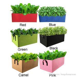 غير المنسوجة صديق للبيئة مستطيلة زراعة حقيبة تنمو حقيبة زهرة الخضروات زراعة الفاكهة حقيبة حديقة الأسرة زراعة اكسسوارات BH1858 CY