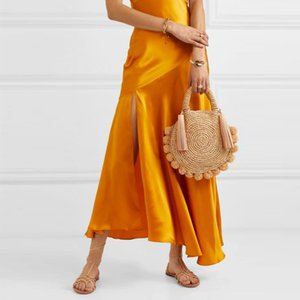 Fashion Summer Handbags Women Bohemian Shoulder Rattan Crossbody Ball Woven Straw Tassel Beach Designer Bags Round Bags Purse Be Anqam