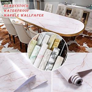 Papel de pantalla de la autoadhesiva a prueba de agua de PVC de mármol Premium, DIY Muebles Armario Renovación, Decoración para el hogar Etiqueta engomada de papel de pared 2D