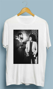 Confortable vendimia Michael Jackson Con Marvin Gaye camiseta Tamaño S M L XL 2XL Tee Tee Shirts