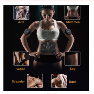 Electric Muscle Stimulator Ems Wireless Buttocks Hip Trainer Abdominal ABS Stimulator Fitness with Replacement Gel Pads
