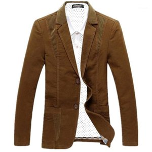 Single Breasted Mens Blazers Casual Round Hem Suits Males Clothing Mens Slim Designer Suits Fashion Panelled