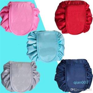 Lazy populares cosmético del bolso de la tuba componen bolsos de lazo de almacenamiento portátil de viaje paquete Pocke descoloridos Nueva dd 9 5jsa