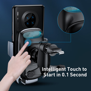FreeShipping 15W Qi Wireless Car Charger For iPhone 11 Fast Car Wireless Charging Holder For Samsung S20 Xiaomi Mi 9 Induction Charger