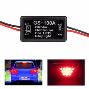 GS-100A Flash Strobe Controller Flasher Module For Car LED Brake Stop Light Lamp 12--24V Waterproof Short Circuit Protection