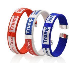 2020 Trump Bracelet US Presidential Election Unisex Bracelet Donald Trump Keep America Great Plastic Resin Bracelet Wrist