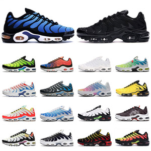 nike TN air max Plus SE shoes hombre zapatos para correr triple negro blanco rojo Gafas 3D Hyper blue Spray paint mens trainer zapatillas de deporte transpirables