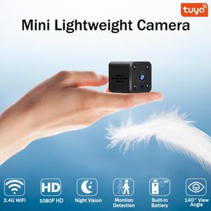 mini câmera 1080p hd câmera ip wi fi de segurança em casa monitor do bebê energia da bateria tuya vida inteligente app vi