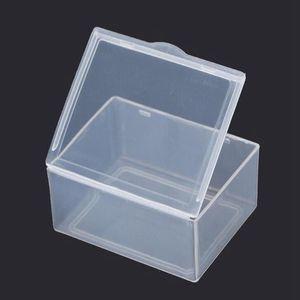 Small plastic box rectangular transparent 5.5*4.3*2.2cm PP Storage Collections Container Box Case Sundries plastic box