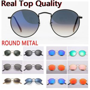 designer sunglasses round metal sunglasses men women UV400 glass lenses sun glasses free original leather case, cloth, box, accessories.