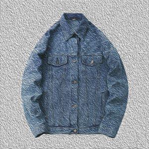 2020 Erkek Ceket Kot Moda Mektupları ceketler Nakış Back Yeni Baskı Coat Denim 2020 Yeni Bombardıman Asya Boyut Üst Kalite