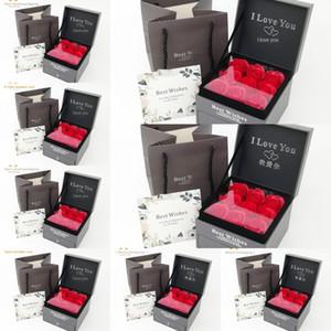 boîte éternelle rouge à lèvres Rose emballage boucles d'oreilles anneau collier cadeau de Lipstick Anneau d'emballage boîte à bijoux yCC1e