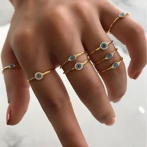 Gold Farbe Boho Evil Auging Ringe für Frauen Punk Schmuck Sterling Party Mode Hochzeit Mädchen Liebhaber Bague Femme Klassische Ring Schmuck
