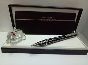 İş Yazma Hediye Kalemler ile Kristal Top kafa için yüksek kaliteli Sınıflandırma Platinum kaplama gizemli siyah cisim tükenmez kalem