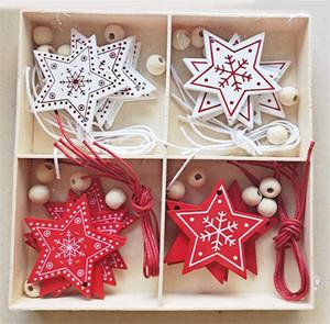 beyaz, kırmızı kar tanesi kardan adam ev ahşap kutu dekorasyon Sevgililer Günü aşk süs geyik Noel süsleri Noel ağacı
