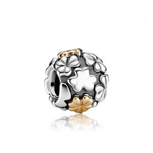 2020 Quattro-foglia di trifoglio fascino rotonde adattando perline pandora originale braccialetto gioielli fai da te accessori braccialetto per il regalo le donne ragazza