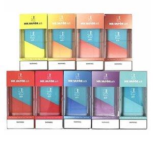 10 Farben MR VAPOR AIR Einweg Vape Pen Geräte-System 500puffs Hits Mr.Vapor 280mAh Akku 1,3 ml Pods Vapor Ecig Einweg-Xtra