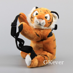 Lovely Plush Backpack White Color Tiger Animals Soft Stuffed Toy Dolls 34 cm