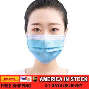 50 / 100pcs / pack Beruf Mask 3-lagig Gesichtsmaske 50pcs