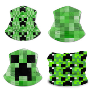 Minecraft Ice silk bib teenager print Polyester ammonia Bandanas, face masks, wrist guards, collars, headbands, headbands, pirate hats cover