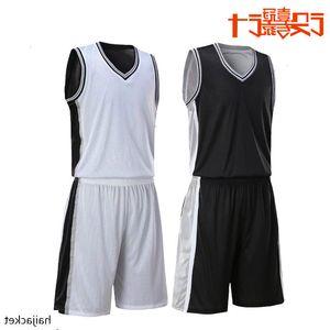 Spur équipe blanc et vide Version basket double face de l'équipe de basket-ball Uniforme Mot Vêtements Costume Light Board Jersey concurrence
