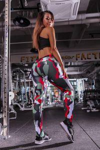 Spor Salonu Leggings 2020 Aktif Yeni Elbise Koşu Bayan Kamuflaj Yoga Pantolon Baskı Moda Sweatpants