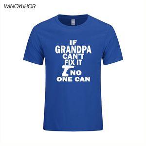 Wenn Opa kann nicht Fix It No One Can Lustige gedrucktes T-Shirt Mann-Sommer-Kurzarm T-Shirt Cotton Vatertags-Geburtstags-Geschenk-T-Shirt