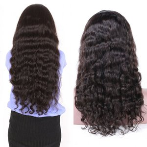 Loose Deep Wave Human Hair Wig Indian Hair Machine Made Wigs Glueless 130% Density Wig For Women