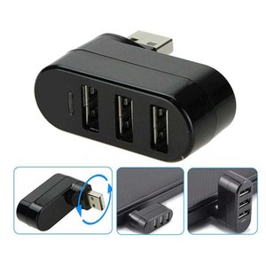 Drehbare Mini 3 Ports USB HUB USB 2.0-Teiler-Adapter für Notebook Tablet Computer PC USB-Hubs