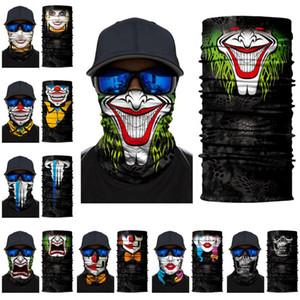DHL Ücretsiz Cadılar Bayramı İskelet Yüz Eşarp Joker Kafa Suç Kafatası Masquerade Parti Maskeler Maske Motosiklet Bisiklet Balık FY6098