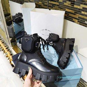 donna Scarpe, Ladies'Shoes classico stile europeo, Martin Boots, decorazione sacchetto del motociclo Stivaletti, stivali in vera pelle sexy gomma C19