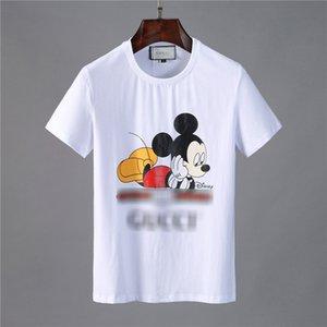 Männer-T-Shirt 19SS neue europäische und amerikanische Mode Persönlichkeit große V Buchstabedrucken Baumwolle gg Guci guc T-Shirt Jugend beiläufige Kurz 05